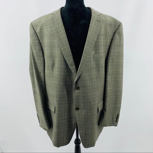 Joseph Abboud Other - Joseph Abboud Black & Tan Wool Sport Coat Blazer